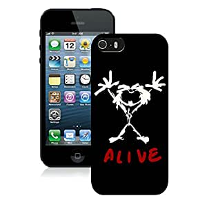 Hot Sell pearl jam alive Unique Custom Black Case For iPhone 5S Case