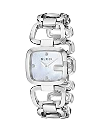 Gucci Women's YA125502 G-Gucci Small Diamond MOP Dial Steel Watch
