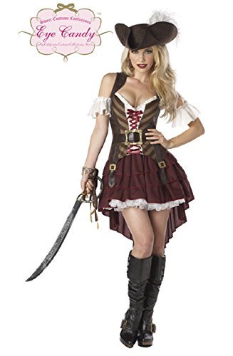 Swashbuckler Adult Womens Pirate Halloween (Pirate Adult Vinyl Chinless Mask)