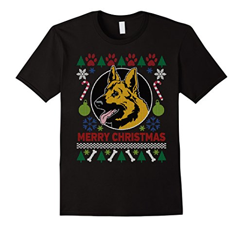 Men's German Shepherd Dog Breed Owners Ugly Christmas T-shirt