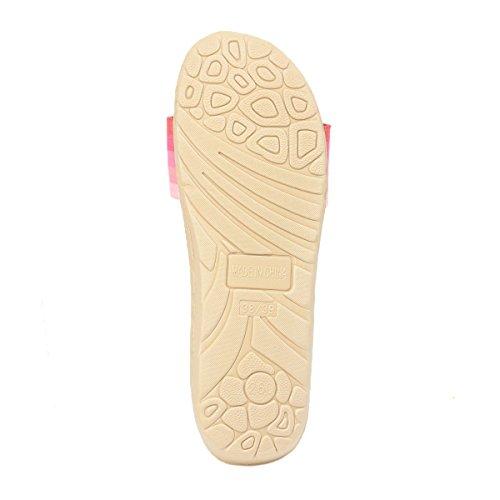 Pantofole Da Casa Traspiranti In Lana Leggera Bestfur Da Donna Colore Rosa