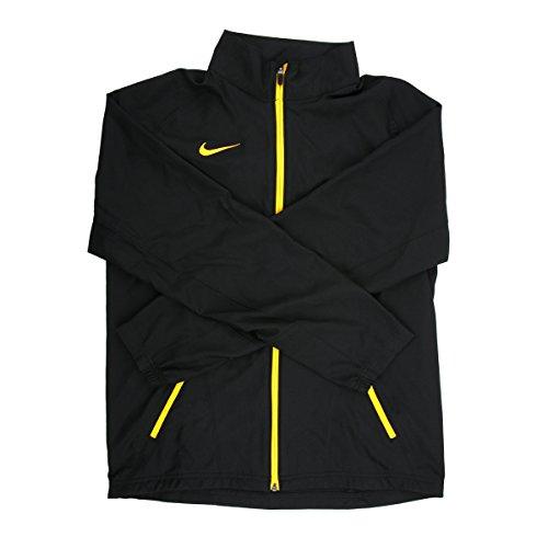 Nike Dri-FIT Men's Black/Yellow Full-Zip Jacket - Extra Small (Yellow Jacket Nike)