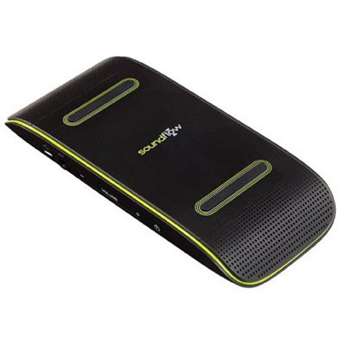 Soundflow Soundboard Wireless Portable Speaker presto, no pairing, no wires, no setup! (SP20BKGR in black and lime green) by Soundflow