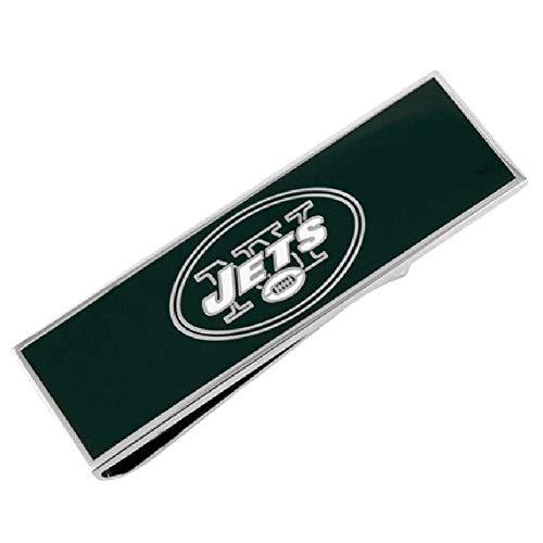 cufflink New York Jets Enamel Money Clip NFL Silver Greeen Money Clip ()