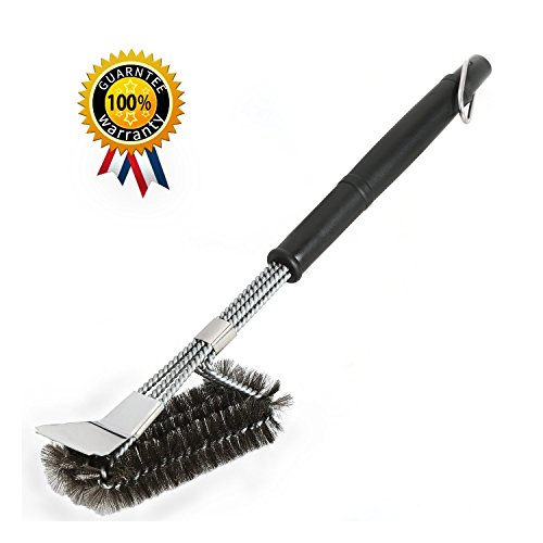 Big Save! Grill Brush – BBQ Brush – BBQ Grill Cleaning Brush with Scraper – Barbecue Cleaner â...