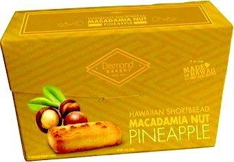 Diamond Bakery Premium Hawaiian Macadamia Nut Shortbread Cookies, Pineapple