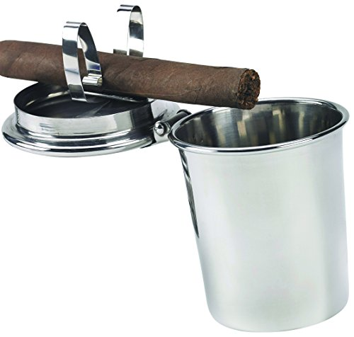 - Stinky Cigar Ashtrays Car Ashtray, Spring Clip to Hold All Cigar Sizes Stainless Steel