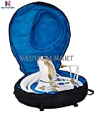 """Brass Sousaphone Bb Big Bell Tubas White Brass Made King Size Tuba Mouth Piece with Carry Bag 25"""" Handmade Musical Instrument Gift"""