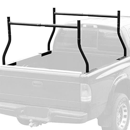9TRADING Adjustable Utility Work Pick UP Truck Double Ladder Racks Lumber Kayak Rack (Average Length Of A Full Size Pickup Truck)