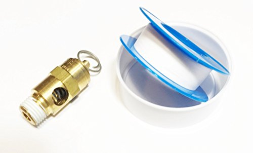 - Sellerocity Kit ASME Compressor Safety Relief Valve Replaces Coleman Powermate Sanborn 136-0077 136-0079 W/ ProPlus Tape