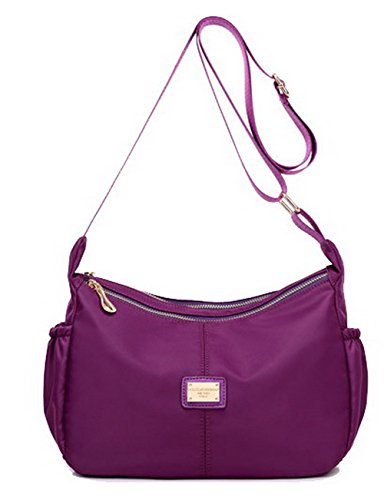 Blue style Agoolar Satchel Nylon Handbags Cross Shoulder Women Purple Party Bags Gmxba181384 RwTPwqX