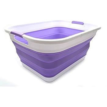 Amazon Com Sammart Collapsible Plastic Laundry Basket