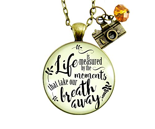 asured By Moments That Take Our Breath Away Pendant Keepsake Memories Inspired Jewelry Camera ()