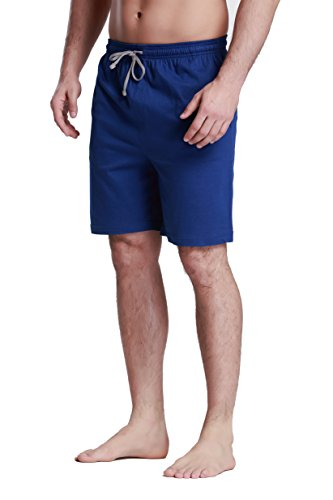 (Men's OctaneUnder 100% Cotton Knit Sleep Shorts-Blue-2XL )