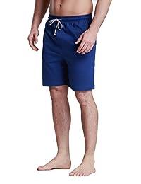 Men's OctaneUnder 100% Cotton Knit Sleep Shorts-Blue-XL