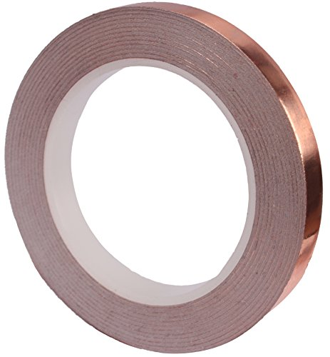 Copper Foil Tape (1/4inch X 36yards) with Conductive Adhesive - Stained Glass, Soldering, Electrical Repairs, Grounding, EMI Shielding - Extra Long Value Pack at A Great Price - NOW 39% Thicker Foil (Self Sticking Letters)