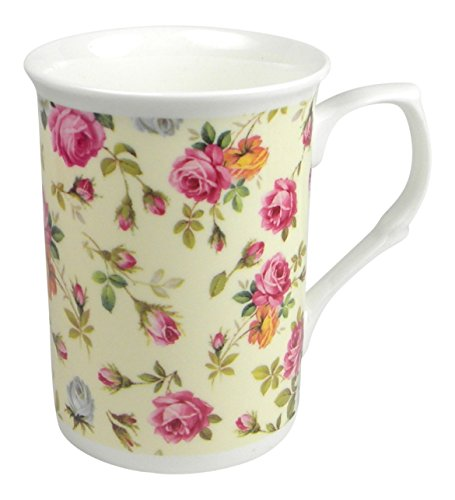 Royal Victorian Rose Basket Chintz Cream Coffee or Tea Mug Fine Bone China