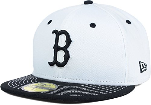 UCLA Bruins White Black New Era NCAA 59Fifty Fitted Cap Hat (7 1/2, White-Black)
