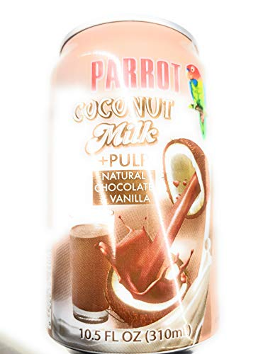 Parrot Coconut Milk Natural Chocolate and Vanilla with Pulp 10.5 Oz (8 ()