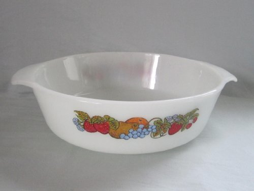 Fire King With Lid Casserole (Vintage 1970s Fire-King Anchor Hocking Milk Glass