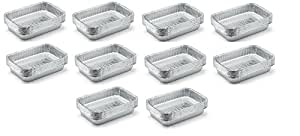 Weber 6415 Small 7-1/2-Inch-by-5-inch Aluminum Drip Pans, Set of 10 (10-Sets of 10)