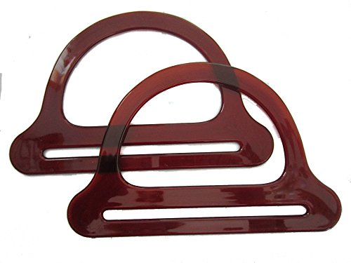 Purse Handles Macrame (Pair of Colorful Plastic Craft Macrame Handbag Purse Handles (Translucent Brown))