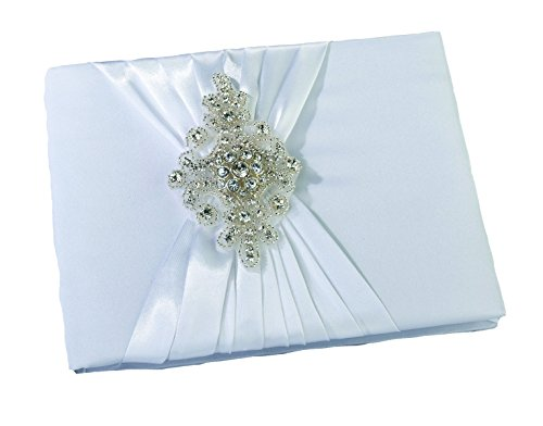 Jeweled Keepsakes (Lillian Rose White Rhinestone Jeweled Wedding Guest Book Pen Set)