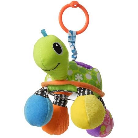 Infantino Topsy Turvy Turtle Mirror Pal Toy, Perfect for car seats and strollers
