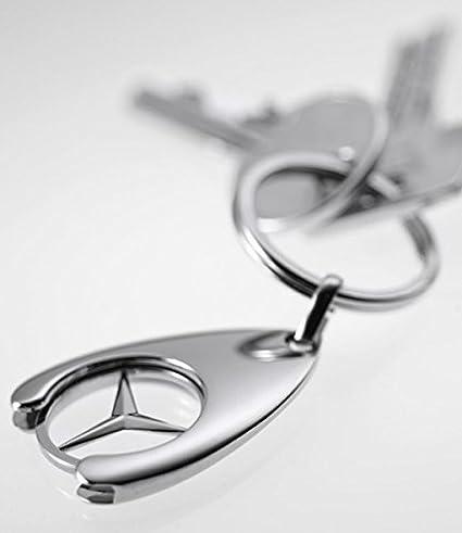 Llavero con moneda para carro de la compra, diseño de Mercedes-Benz: Amazon.es: Coche y moto