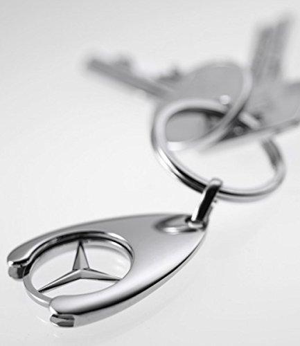 Llavero con moneda para carro de la compra dise/ño de Mercedes-Benz