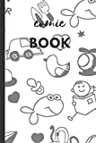 Comic Book: Blank Sketchbook for Kids | Creat Your Own Comics | Kids Creativity Kit & Travel Activity | Teach Kids How to Draw (Blank Comic Books For Kids To Draw Stories)