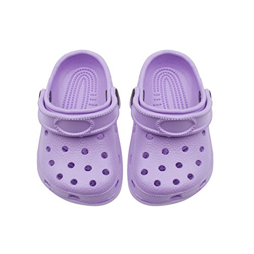 Shocked Toddler Rubber Foam Slingback Clogs with Ventilated Upper Size 9-10 Lilac