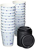 Hefty Disposable Hot Cups with Lids, 12 Ounce, 20 Count (Pack of 4), 80 Total