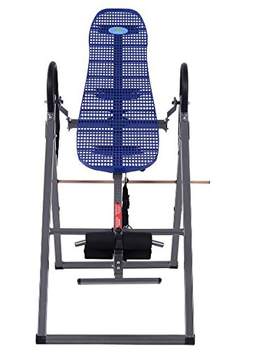 K&A Company Foldable Abs Inversion Table Gravity Therapy Back Pain Fitness Reflexology Exercise Home New Blue