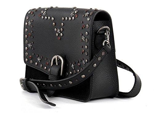 SCOTCH & SODA Studded Leather Bag Black