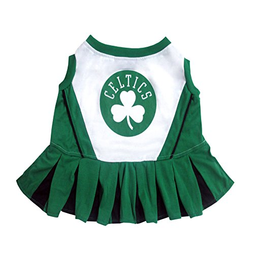 Pets First NBA Boston Celtics Dog Cheerleader Dress, Small