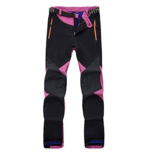 - K-mover Women's Ski Snow Insulated Fleece Softshell Windproof Waterproof Pants (Sky Blue, X-Large)