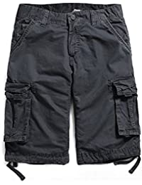 Mens Cargo Shorts Multi Pockets Short Men