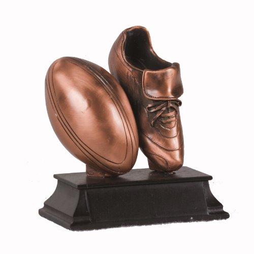 Copper Football Shoe & Ball Figurine