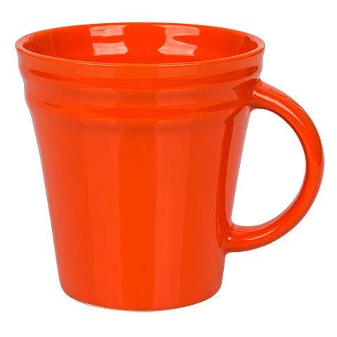 Rachael Ray Dinnerware Double Ridge Mug Set, 4-Piece (Orange)