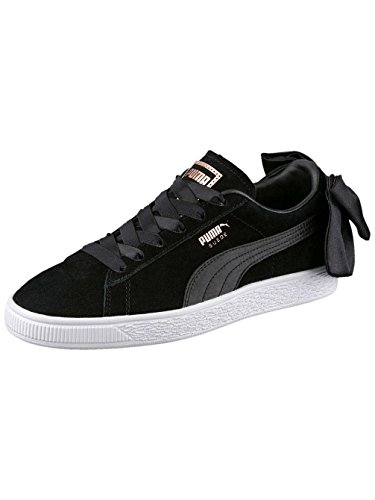 Puma Damen Suede Bow Wns Sneaker Schwarz (puma Nero-puma Nero)