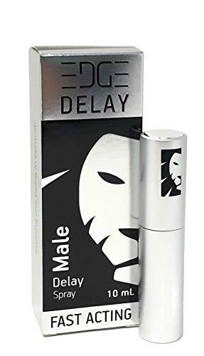 Edge Delay Spray for Men - Fast Acting, No Lidocaine, Non Numbing, All-Natural Formula - Full Sensations for Him - Male Genital Desensitizer Spray - Prolong Sех Prevent Premature Orgasm - 100 Sprays