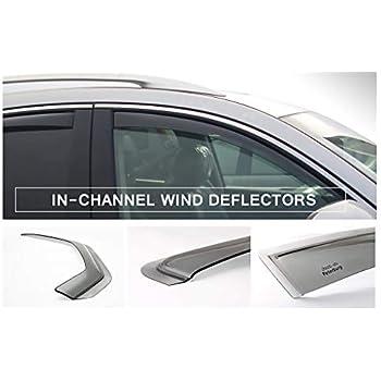 Chrome Trim Window Visors Guard Vent Deflectors For Mitsubishi Lancer 2007-2017