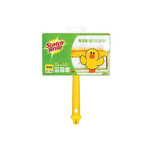 LINE FRIENDS 3M Scotch-Brite Sticky Lint Roller Set(Handle 1 + Refill Roller 2) (XL(Cleaner Width 200mm), Sally)