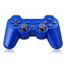 podofo Bluetooth Wireless Game Controller Gamepad for PS3 PlayStation 3 (Blue)