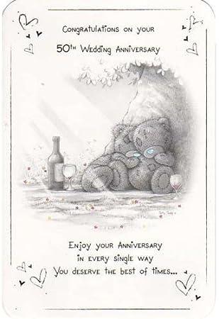 Tatay Teddy Carte Félicitations Sur Votre 50e Anniversaire