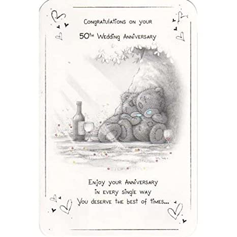 Taty Teddy Felicidades por tu 50th aniversario de boda tarjeta ...