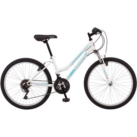 Roadmaster 24-Inches Granite Peak Girls' Mountain Bike Made with Lightweight Aluminum Wheels and 3-Piece Crank- White Top Offers