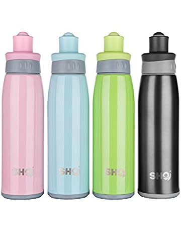 03cdeda937 SHO Sports Bottle - Ultimate Vacuum Insulated Stainless Steel Sports Bottle  & Water Bottle - 12
