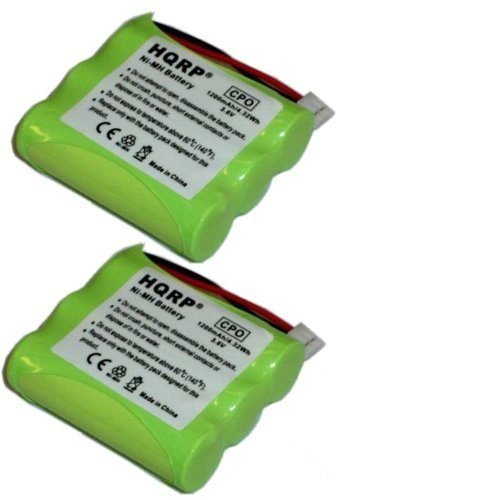 1200 Telephone (HQRP Phone Battery 2-Pack for General Electric GE 27923 27928 27933 27938 27944 27957 27958 27996 27998 5-2549 TC25861 25836 25836EE1 Cordless Telephone plus Coaster)